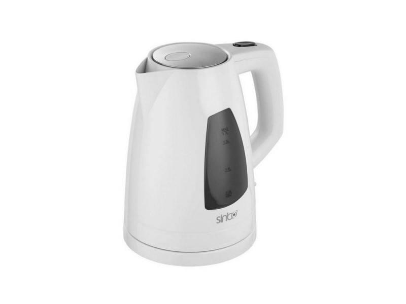 Чайник Sinbo SK 7302, 2200 Вт., 1,7 л., пластик, закрытая спираль, белый чайник tefal ko 29913e 2200 вт 1 5 л пластик белый