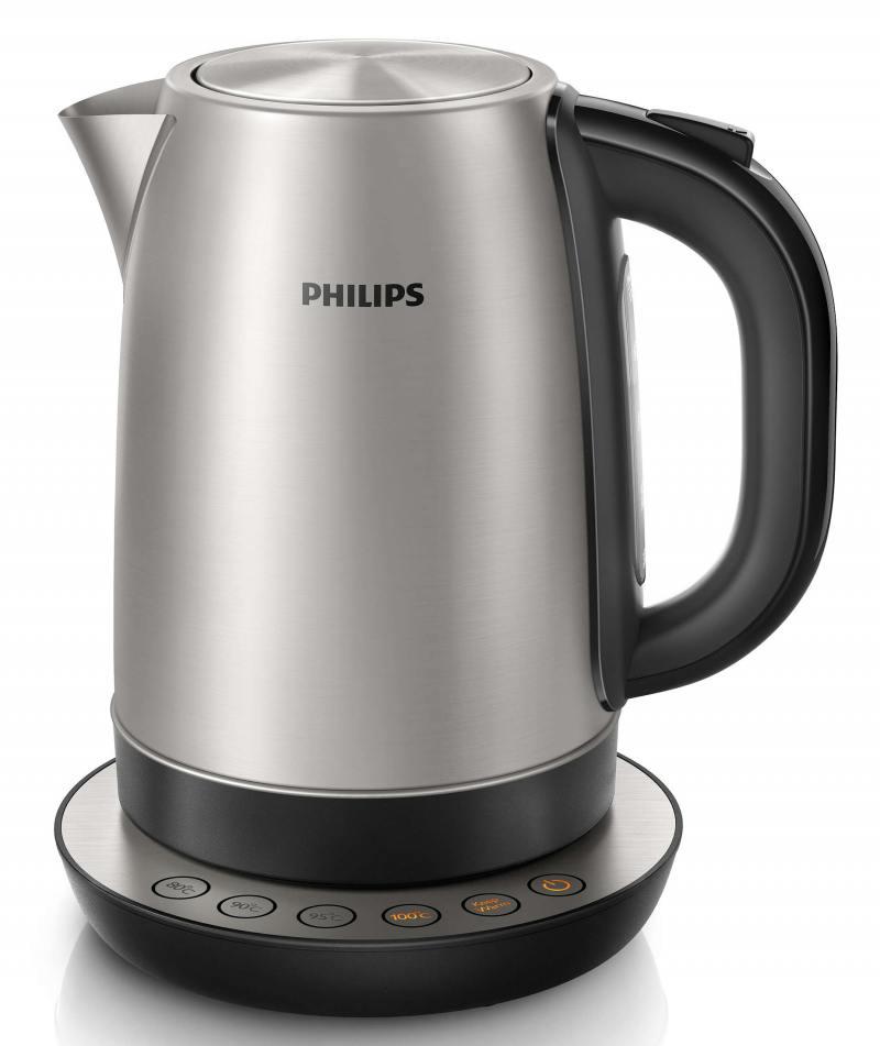 Чайник Philips HD9326/20, 2200Вт, 1.7л, сталь, подставка-пульт, серебристый недорого