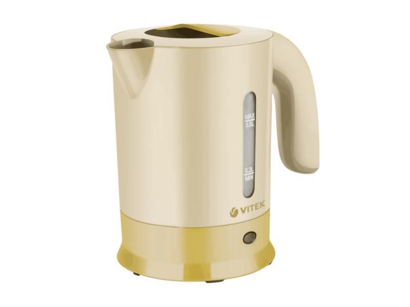 все цены на Чайник Vitek VT-7023 Y 650 Вт 0.5 л пластик жёлтый онлайн