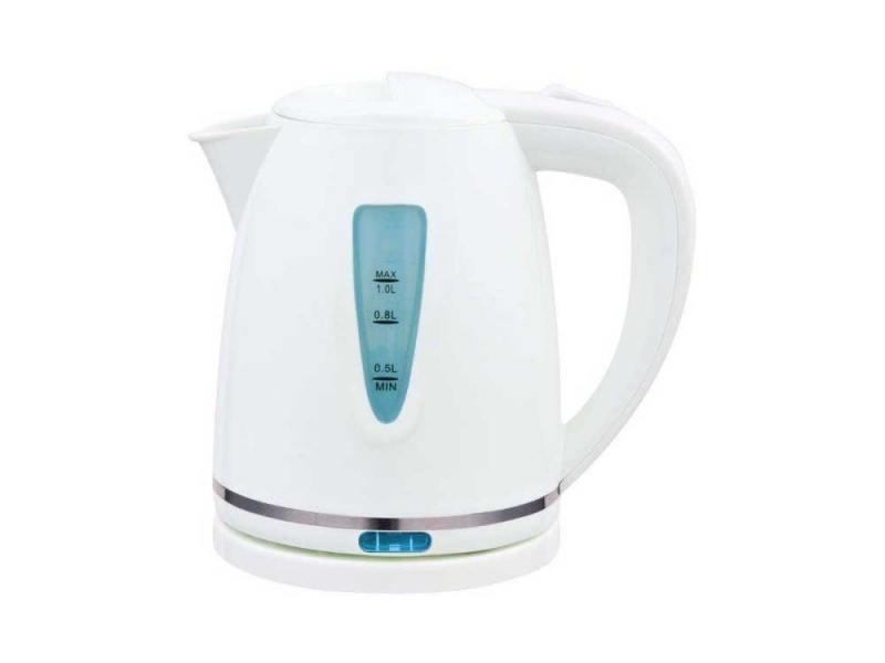 Чайник Polaris PWK1038C 1200 Вт 1 л пластик белый чайник first fa 5427 8 bu 2200 вт белый синий 1 7 л пластик