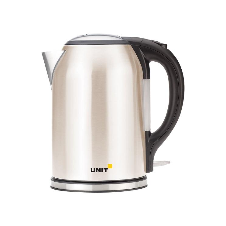 Чайник электрический UNIT UEK-270, Цвет - Бежевый; сталь, цветная эмаль, 1.8л., 2000Вт. чайник электрический unit uek 269 черный