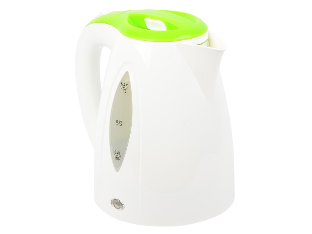 Чайник электрический Endever Skyline KR-361, белый-зеленый чайник электрический bbk ek 1700 p белый зеленый