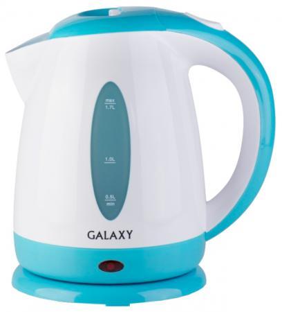 Чайник GALAXY GL0221 2200 Вт голубой 1.7 л пластик чайник электрический galaxy gl0221 голубой