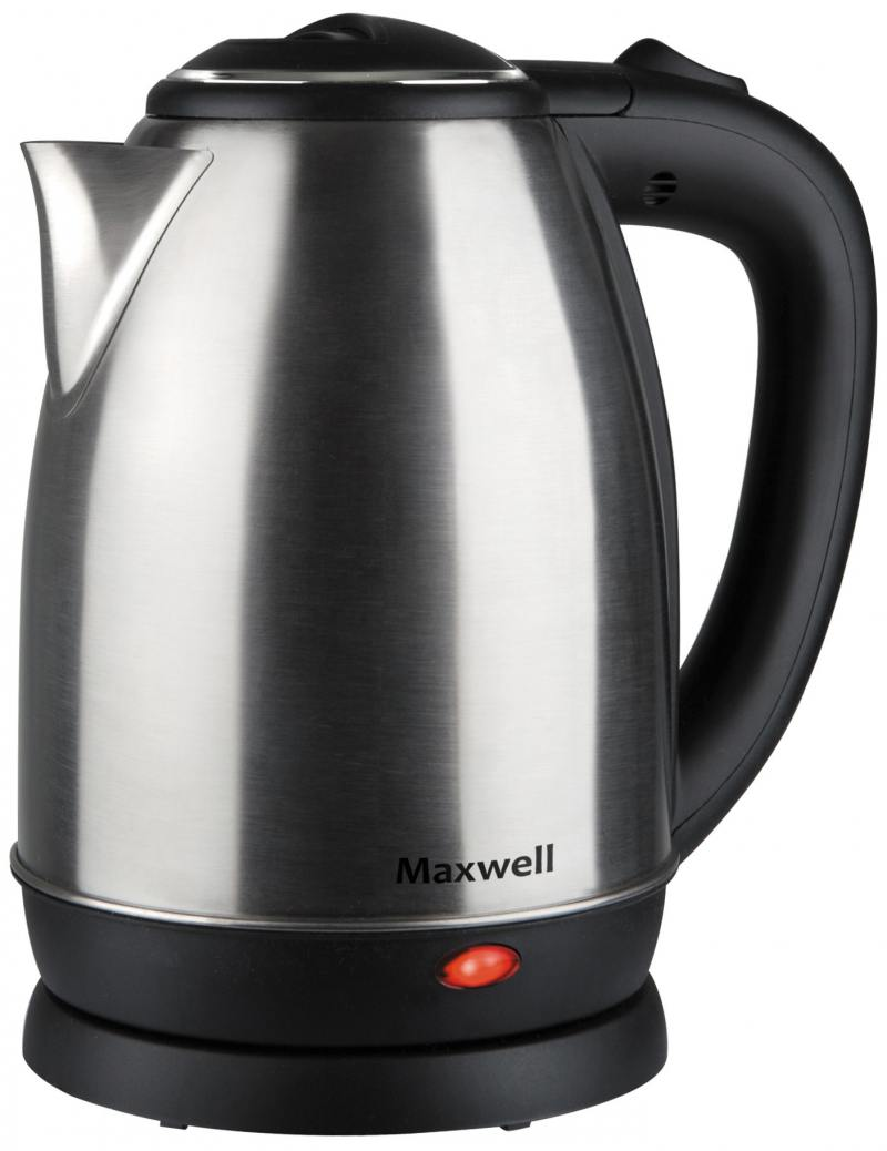 лучшая цена Чайник Maxwell MW-1081 ST 1850 Вт чёрный 1.8 л металл