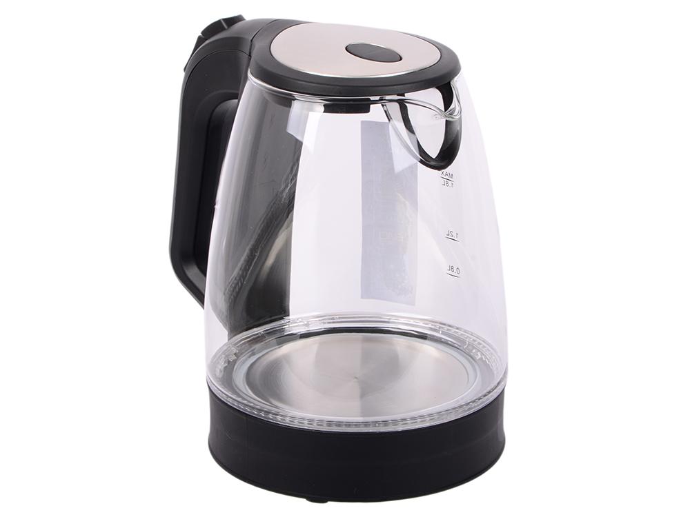 лучшая цена Чайник ENDEVER Skyline KR-326G 2200 Вт чёрный 1.8 л стекло