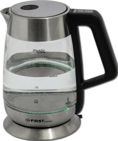 Чайник First FA-5406-7, стеклянный Емкость: 1.7 л. Мощность: 2200 Вт чайник first fa 5406 2200 вт чёрный 1 7 л пластик стекло