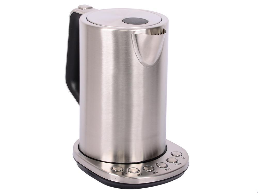 Чайник Kitfort KT-621 серебристый 2200Вт, 1.7л чайник электрический kitfort kt 609 серебристый черный
