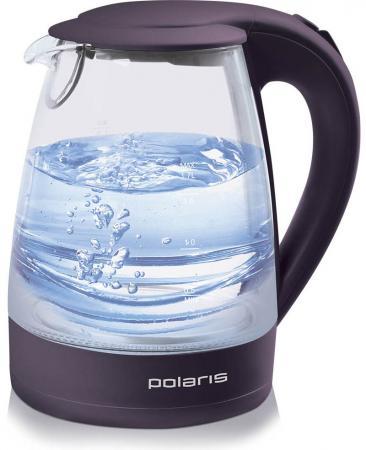 Чайник Polaris PWK 1767CGL, 2200Вт, 1.7л, стекло, фиолетовый цена и фото