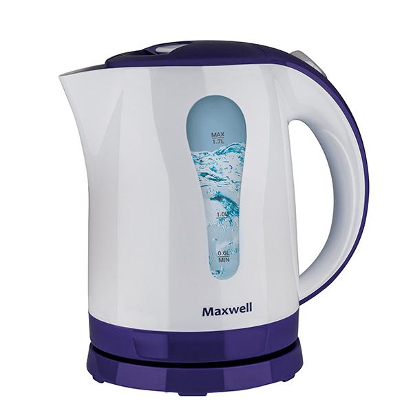 Картинка для Чайник Maxwell MW-1096 (VT) 2200 Вт Макс. объем 1,7 л Скрытый нагревательный элемент