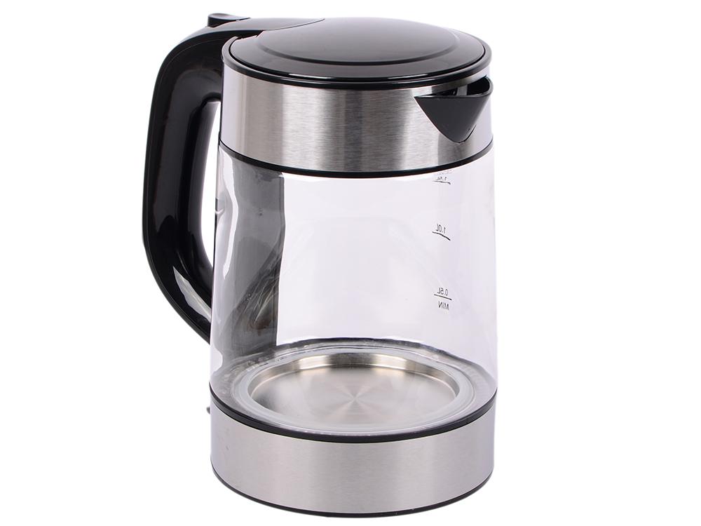 лучшая цена Чайник электрический UNIT UEK-273 (Черный); стекло, 1.7л., 2000Вт