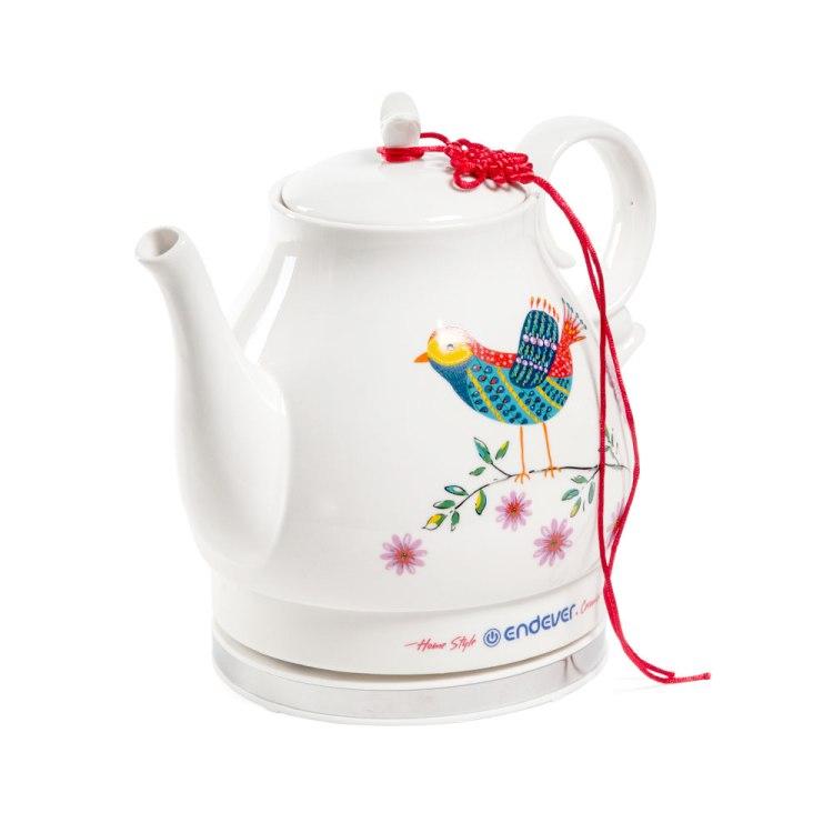 Чайник Endever KR-410C белый 1600Вт, 1.6л, керамика цена