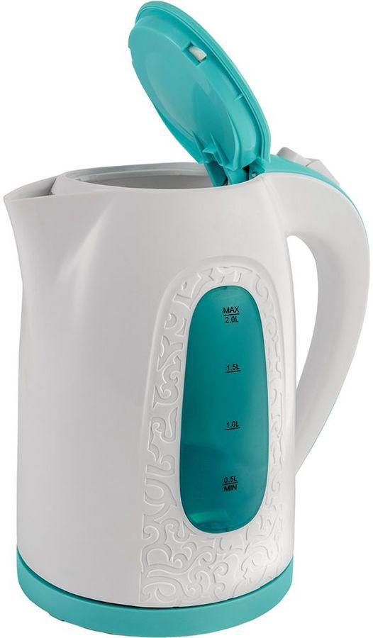 Чайник электрический Polaris PWK 2077СL 2л. 2200Вт бирюзовый (корпус: пластик) чайник электрический gipfel 1175 enrica 2л
