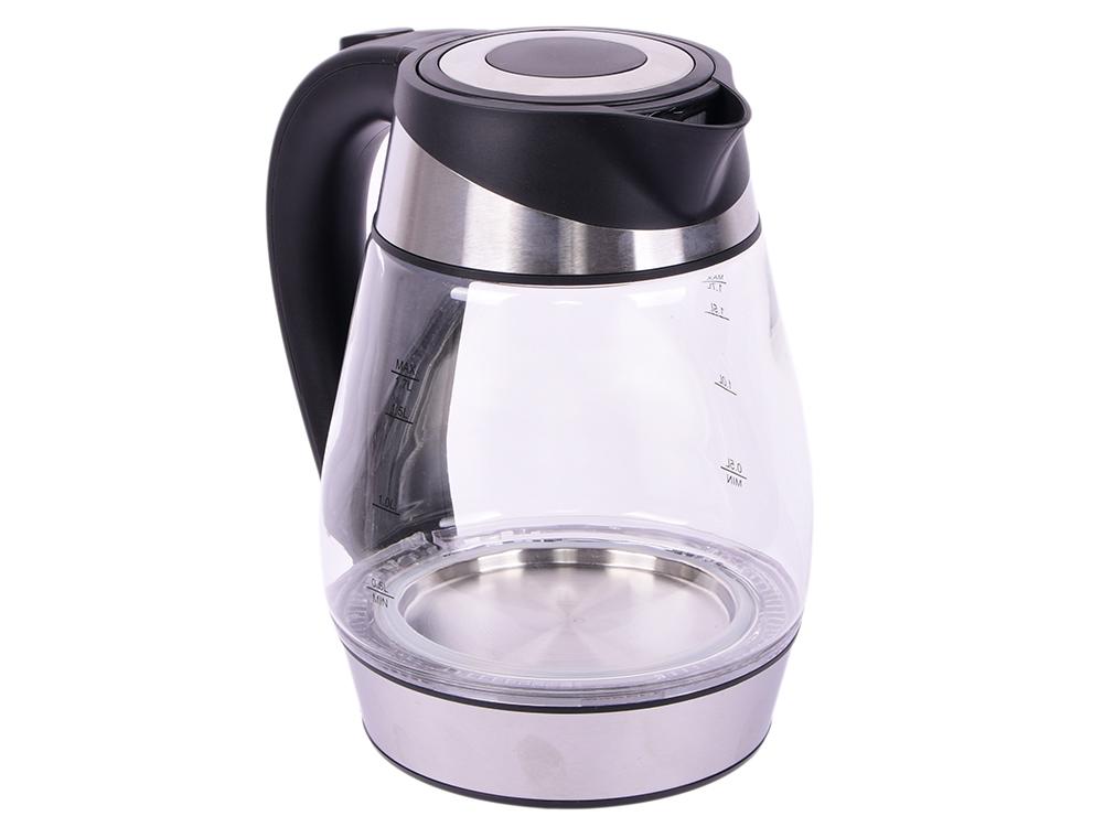 Чайник FIRST AUSTRIA FA-5405-2 Black, стеклянный, 1,7 л, 2200 Вт., подсветка, фильтр, внутренняя подсветка, черный чайник first fa 5425 2 black