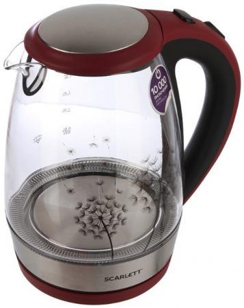 Чайник электрический Scarlett SC-EK27G49 красный/черный 2200 Вт, 1.8 л триммер scarlett sc hc63c24 черный красный