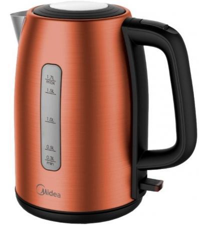 Чайник электрический Midea MK-8059 коричневый 2200 Вт, 1.7 л чайник электрический gipfel 2010 1л