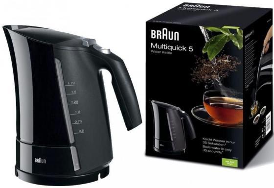 Чайник электрический Braun WK500 1.7л. 3000Вт черный 3000 Вт, 1.7 л, пластик