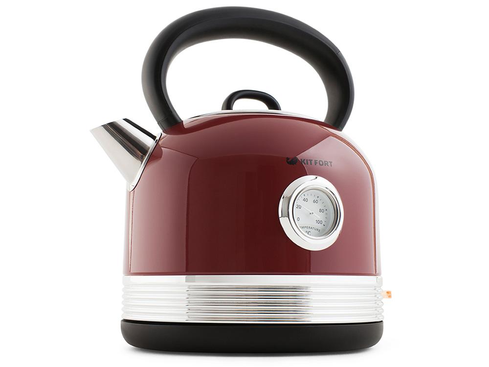 Чайник электрический Kitfort КТ-634-2 1.7л. 2150Вт красный