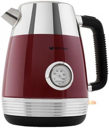 Картинка для Чайник электрический Kitfort КТ-633-2 1.7л. 2150Вт красный