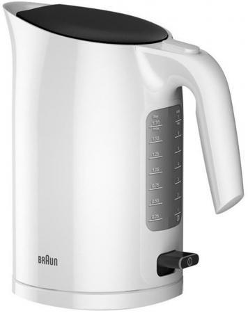 Чайник электрический Braun WK3100 1.7л. 2200Вт белый (корпус: пластик) чайник электрический supra kes 1726 2200вт белый и желтый