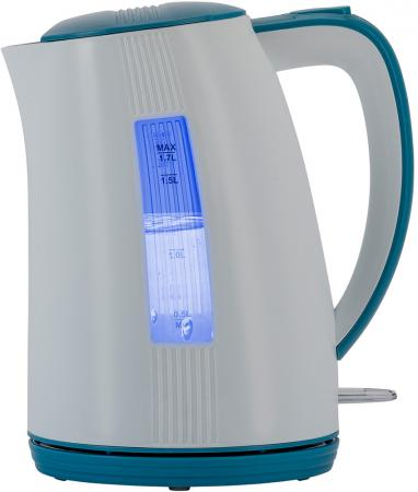 Чайник электрический Polaris PWK 1790СL белый/синий 1.7л, 2200 Вт, корпус: пластик чайник first fa 5427 8 bu 2200 вт белый синий 1 7 л пластик