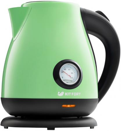 Чайник Kitfort KT-642-6, светло-зелёный 2200 Вт, 1.7 л стоимость