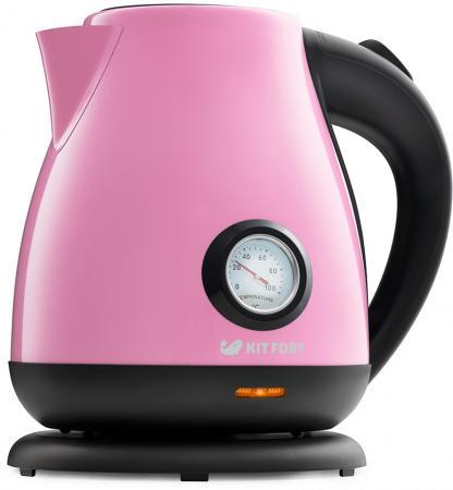 Фото - Чайник Kitfort KT-642-1 розовый 2200 Вт, 1.7 л чайник kitfort kt 642 1 розовый 2200 вт 1 7 л
