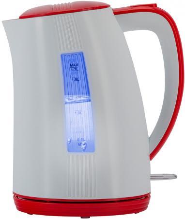 Чайник электрический Polaris PWK 1790СL белый/красный 1.7л, 2200 Вт, корпус: пластик цена и фото