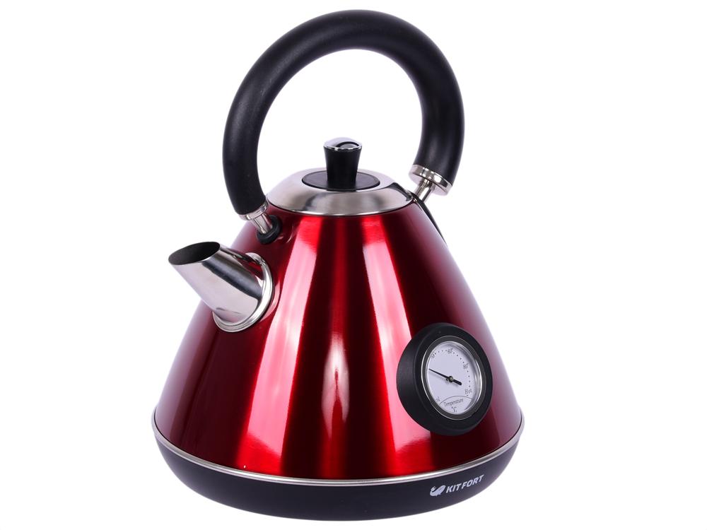 Чайник Kitfort КТ-644-3 красный 2200 Вт, 1.7 л