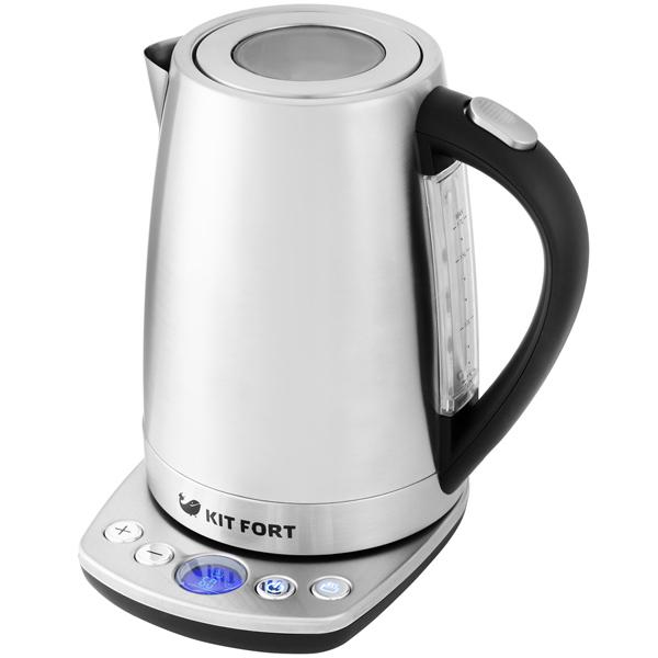 Чайник Kitfort КТ-645 серебристый 2200 Вт, 1.7 л