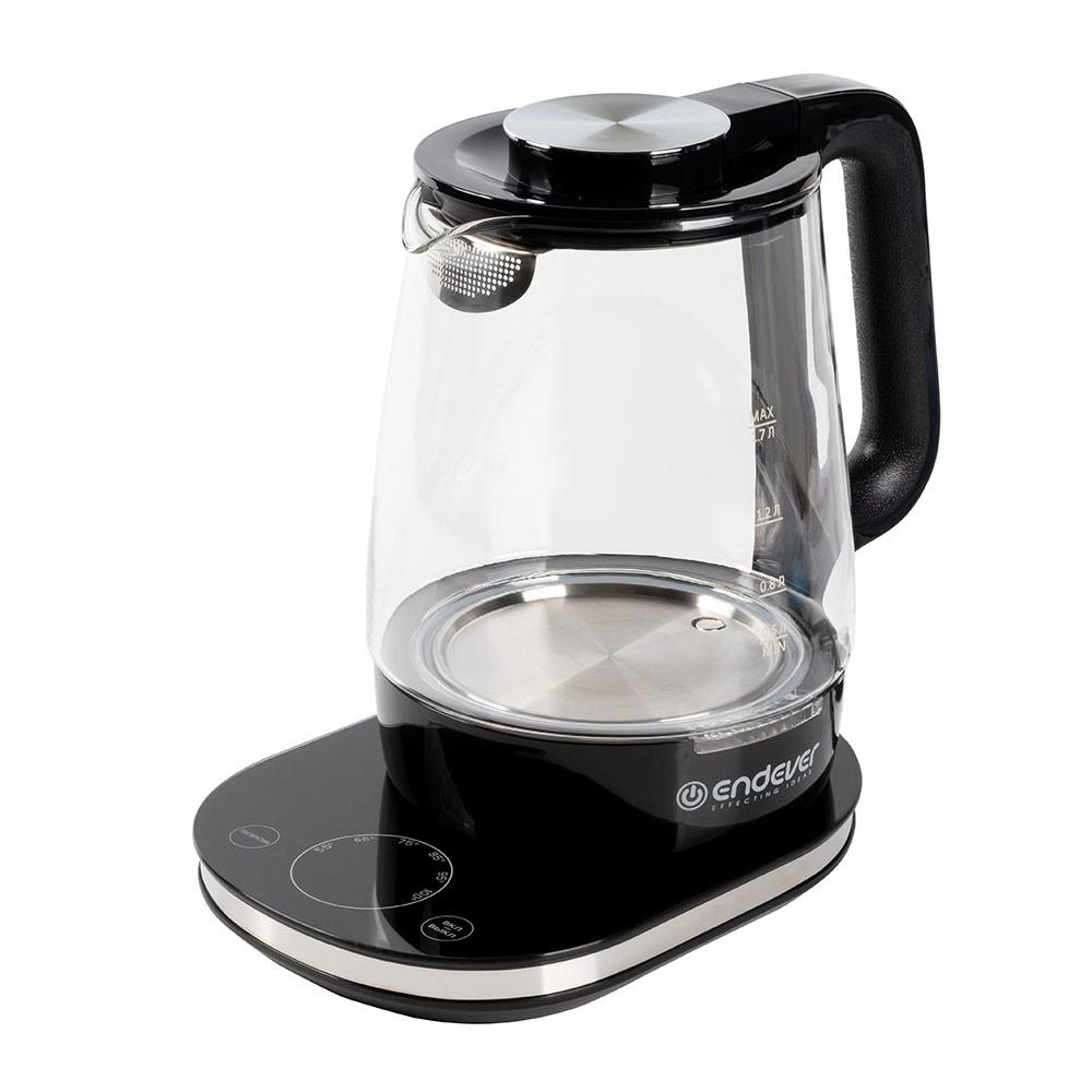 Чайник электрический Skyline KR-334G black 1800 Вт, 1.7 л, стекло цена и фото