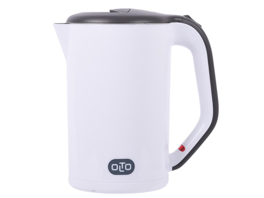цена на Чайник OLTO КЕ-1720 White 2000 Вт., 1,7 л., корпус металл/пластик, белый