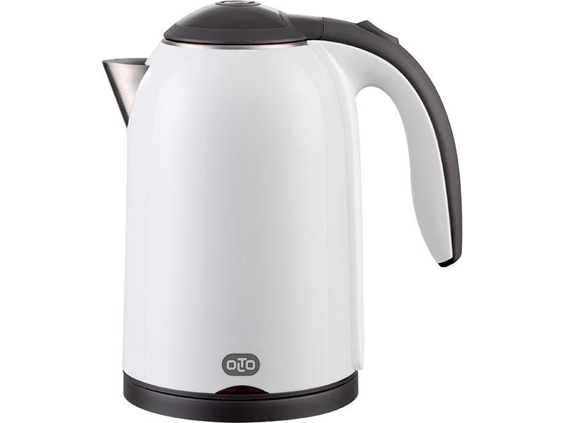 цена на Чайник электрический OLTO КЕ-1721 WHITE 2000 Вт., 1,7 л., корпус металл/пластик, белый