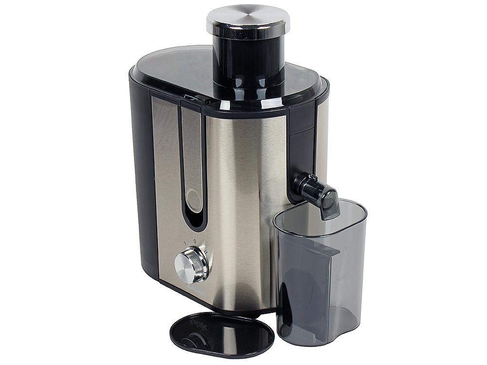 Соковыжималка BBK JC060-H02, 600Вт, центробежная, 2 скорости, черный/металлик zelmer je1200 5 zje 1205g центробежная соковыжималка 5 в 1 black