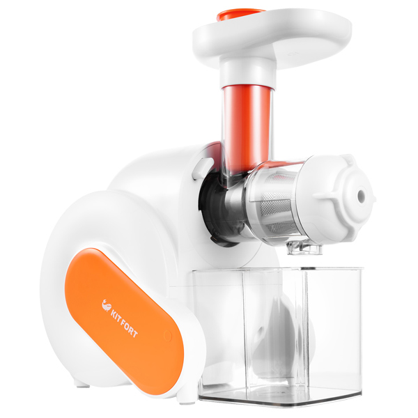 Соковыжималка шнековая Kitfort КТ-1110-2 оранжевая