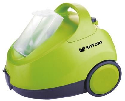 Пароочиститель KITFORT KT-912 Professional Series, 2000 Вт, зеленый цена и фото