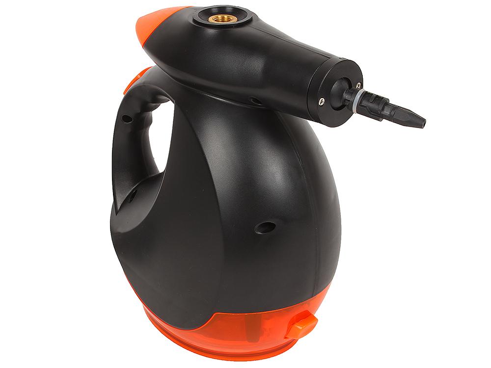 Отпариватель ручной MIE Forever Clean, 1200Вт, давление пара 4 бар, бак 0.48л, пар 50г/мин, набор насадок, черный/оранжевый