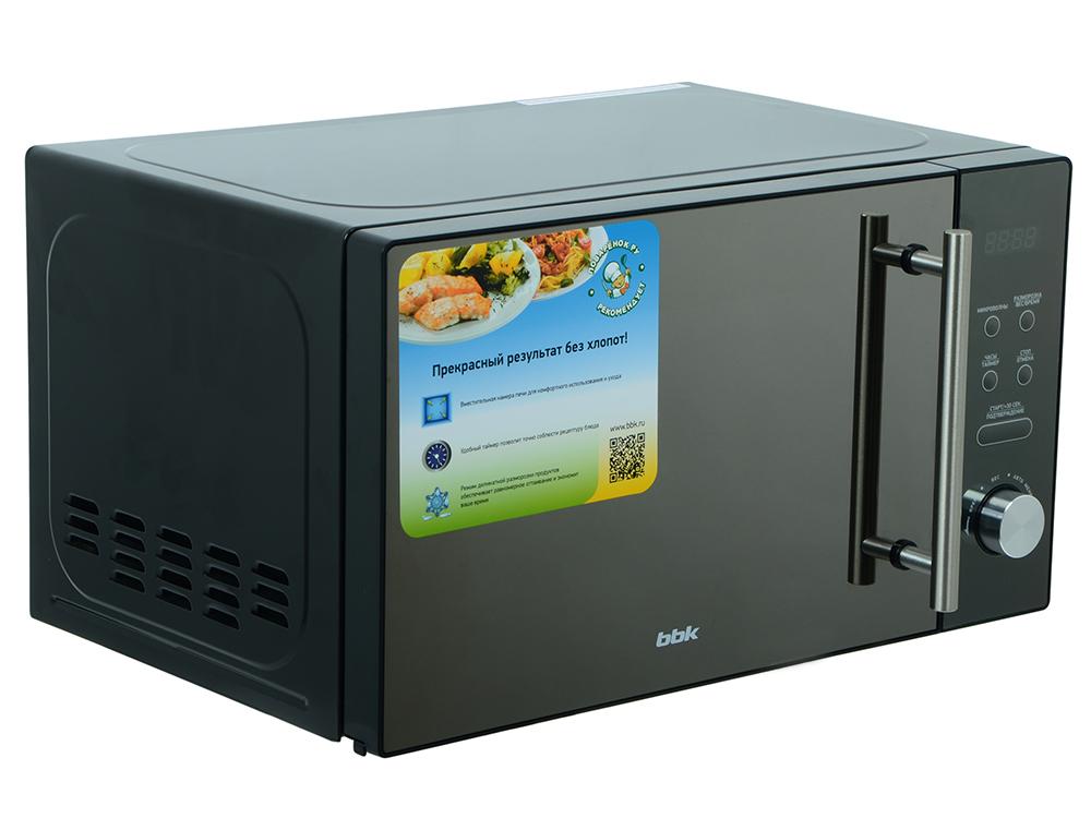 Микроволновая печь BBK 20MWS-722T/B-M, соло, 20л, эл. управ, 700Вт, черный