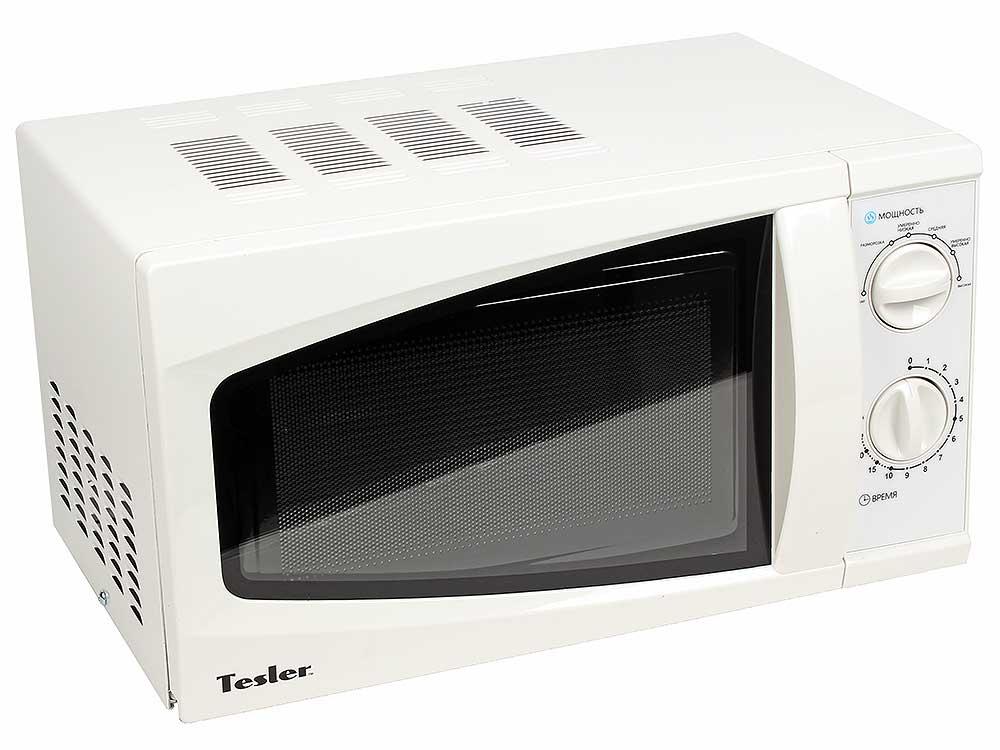 Микроволновая печь TESLER MM-1711, соло, 17л, мех. управ, 700Вт, белый микроволновая печь tesler mm 1714 white