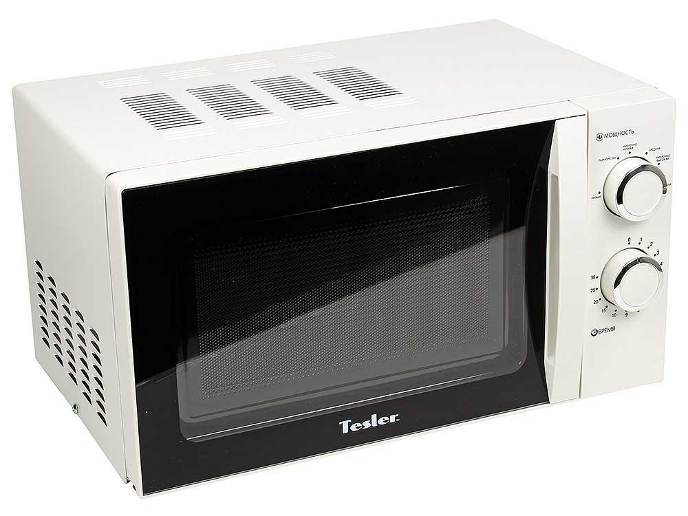 лучшая цена Микроволновая печь TESLER MM-2038, соло, 20л, мех. управ, 700Вт, белый