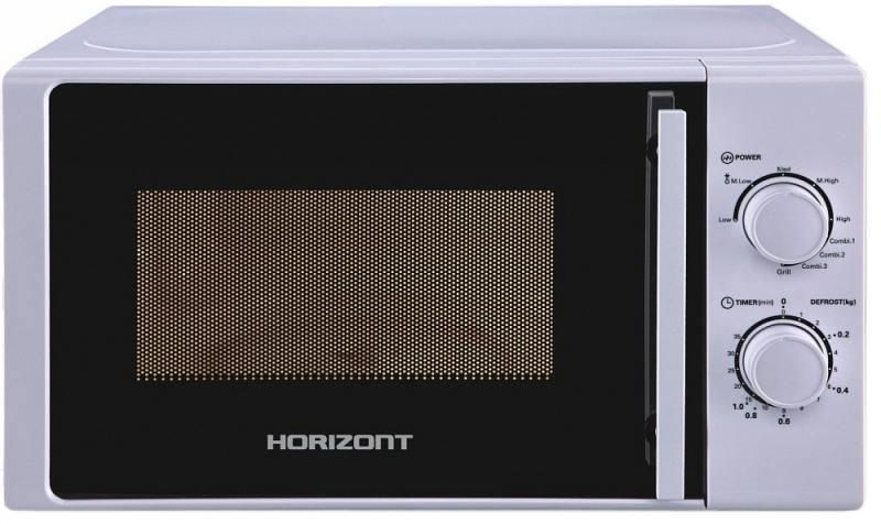 Микроволновая печь Horizont 20MW700-1478BIW 750 Вт серебристый свч horizont 20mw700 1478biw 750 вт серебристый