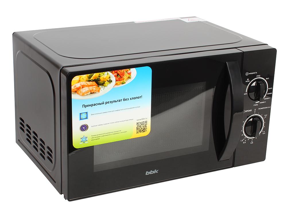 Микроволновая печь BBK 20MWG-739M/B микроволновая печь с грилем bbk 20mwg 735s w