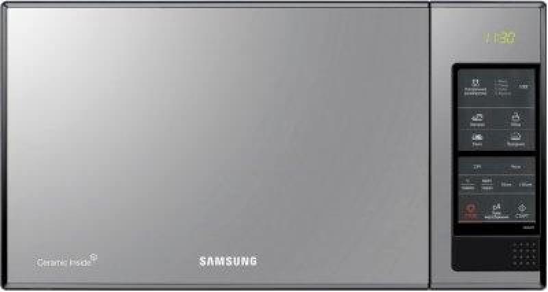 все цены на Микроволновая печь Samsung ME83XR 850 Вт серый чёрный Зеркальная передняя панель онлайн