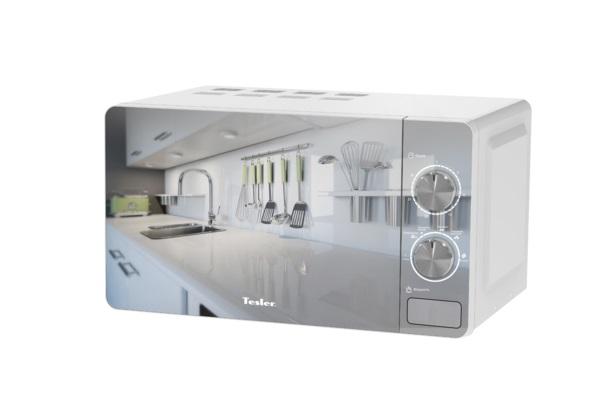 Микроволновая печь TESLER MM-2002, соло, 20л, мех. управ, 700Вт, белый микроволновая печь tesler mm 1714 white