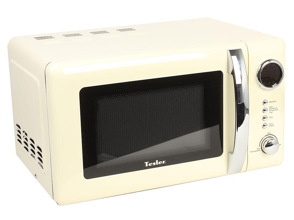 Микроволновая печь TESLER ME-2055 Beige, соло, 20л, мех. управ, 700Вт, бежевый цена и фото