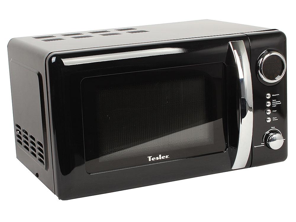 Микроволновая печь TESLER ME-2055 Black, соло, 20л, 700 Вт., механическое управление, чёрный микроволновая печь tesler me 2052 700 вт белый