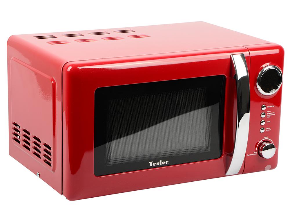 Микроволновая печь TESLER ME-2055 Red, соло, 20л, 700 Вт., механическое управление, красный микроволновая печь tesler me 2052 700 вт белый