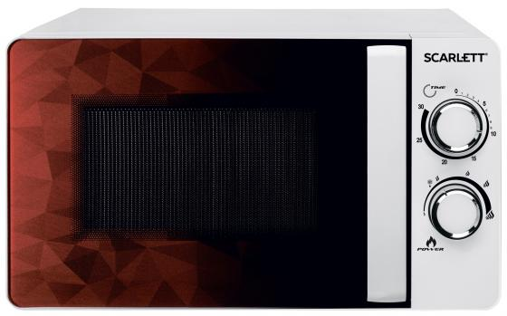Микроволновая печь Scarlett SC-MW9020S04M белый/коричневый 700 Вт, 20 л микроволновая печь scarlett sc mw9020s02m