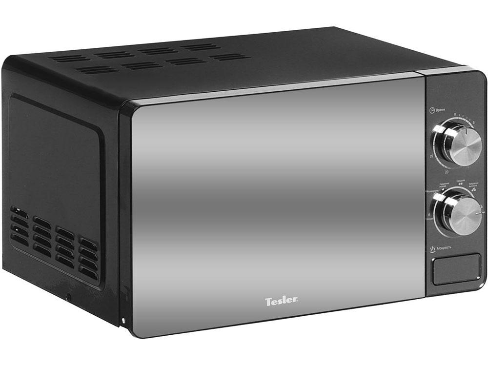 Микроволновая печь TESLER MM-2002, соло, 20л, мех. управ, 700Вт, черный микроволновая печь supra 20tw16 20л 700вт белый