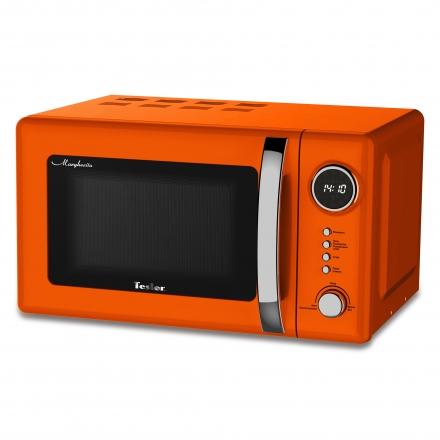 Микроволновая печь TESLER ME-2055 Orange, соло, 20л, 700 Вт., механическое управление, оранжевый микроволновая печь supra 20tw16 20л 700вт белый