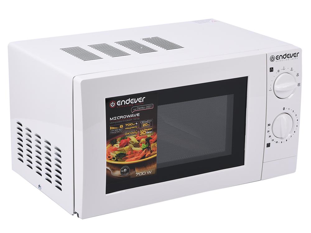 цена Микроволновая печь ENDEVER Danko 2001 белый 700 Вт, 20 л онлайн в 2017 году